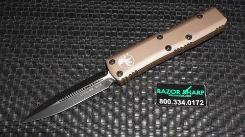 Microtech 232-1TA UTX-85 Tan D/E OTF Automatic Knife Tactical Black Plain
