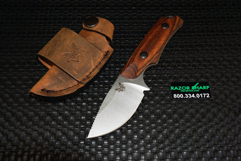 Benchmade 15016-2 Hidden Canyon Hunter Knife Wood Fixed Blade
