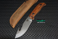 Benchmade 15003-2 Saddle Mountain Skinner Knife w/ Gut Hook Wood Hunting