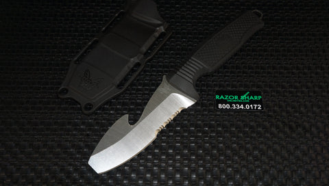 Benchmade 112S-BLK Opposing Bevel H2O Dive Knife Black Satin Serrated