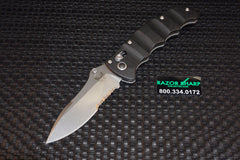 Benchmade Nakamura 484S AXIS Lock Knife Black G-10 Satin Serrated