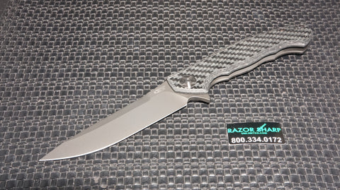 Zt Zero Tolerance 0452GL Glow in Dark Carbon Fiber Flipper Knife Sprint Run