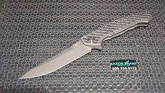 Zt Zero Tolerance 0452GL Glow in Dark Carbon Fiber Flipper Knife DLC Plain Edge Blade