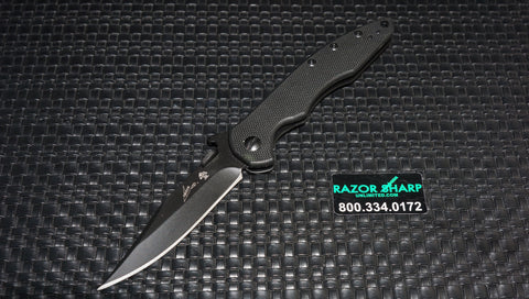 Kershaw 6094BLK Emerson CQC-1K Frame Lock Knife Plain Black