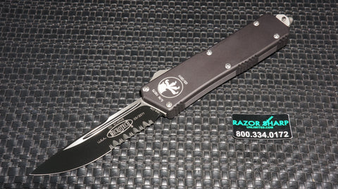 Microtech 107-2 Executive Scarab S/E OTF Automatic Knife Black Serrated