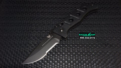 Benchmade 275SBK Adamas Axis Lock Manual Black Serrated Knife w/ Black Handle