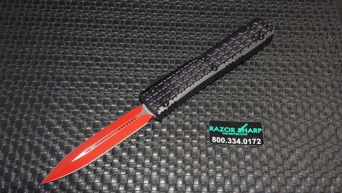 Microtech 122-1SL Ultratech D/E OTF Automatic Knife Red Sith Lord Serial # 62