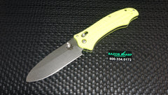 Benchmade 111H2O-YEL Bullhead Axis Lock Knife Yellow Satin Plain