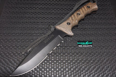 Schrade SCHF3 Extreme Survival Fixed Blade Knife Micarta Black Serrated