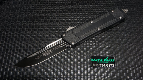 Microtech 178-1T QD Navy Scarab S/E OTF Automatic Knife Black Plain Edge