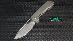 Chaves 325 American Made JB Stout Megalodon Frame Lock Knife Stonewash
