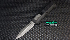 Benchmade 3350 Mini Infidel Knife OTF Double Action Automatic Satin Plain