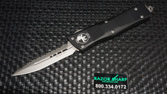 Microtech 138-9 Troodon D/E OTF Automatic Knife Bead Blast Full Serrated Edge