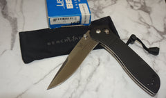 Benchmade Knife 710 McHenry & Williams AXIS Lock Knife ATS-34 Satin Plain Edge