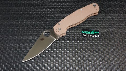 Spyderco C81GPBN2 Paramilitary II Knife Dark Earth Brown G-10 Satin