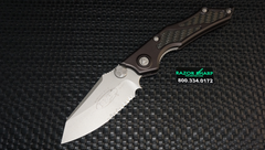 Microtech 129-8 Select Fire Knife Manual Folder Bead Blast Serrated