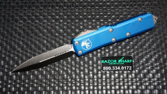 Microtech 232-4BL Blue UTX-85 D/E OTF Automatic Knife CTS-204P Satin Plain