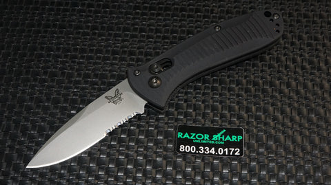 Benchmade 5500S Drop Point Mini Presidio Automatic AXIS Knife Serrated
