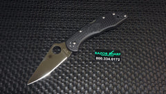 Spyderco C11FPBK Delica 4 Knife Black FRN Satin Flat Ground Plain