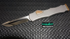 Heretic Knives Hydra Drop Point #003 OTF Automatic Knife Mirror Polish