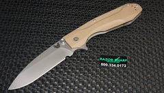 Benchmade 928 Osborne Proxy Flipper Framelock Knife Tan G-10 Satin Plain