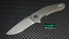 Zt Zero Tolerance 0220 Jens Anso Flipper Knife Titanium Stonewash Plain