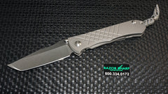 Chris Reeve Umnumzaan Tanto Knife Titanium Folder Satin Plain Edg