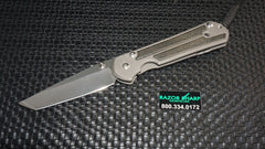 Chris Reeve Large Tanto Sebenza 21 Knife Micarta Inlays Stonewash Plain