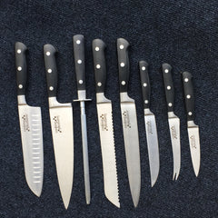 Cooking Pleasures Chef 9 Piece Knife Set High Carbon Stainless Steel Blades