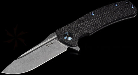 Reate Knives Horizon-CF Frame Lock Knife Carbon Fiber Satin M-390