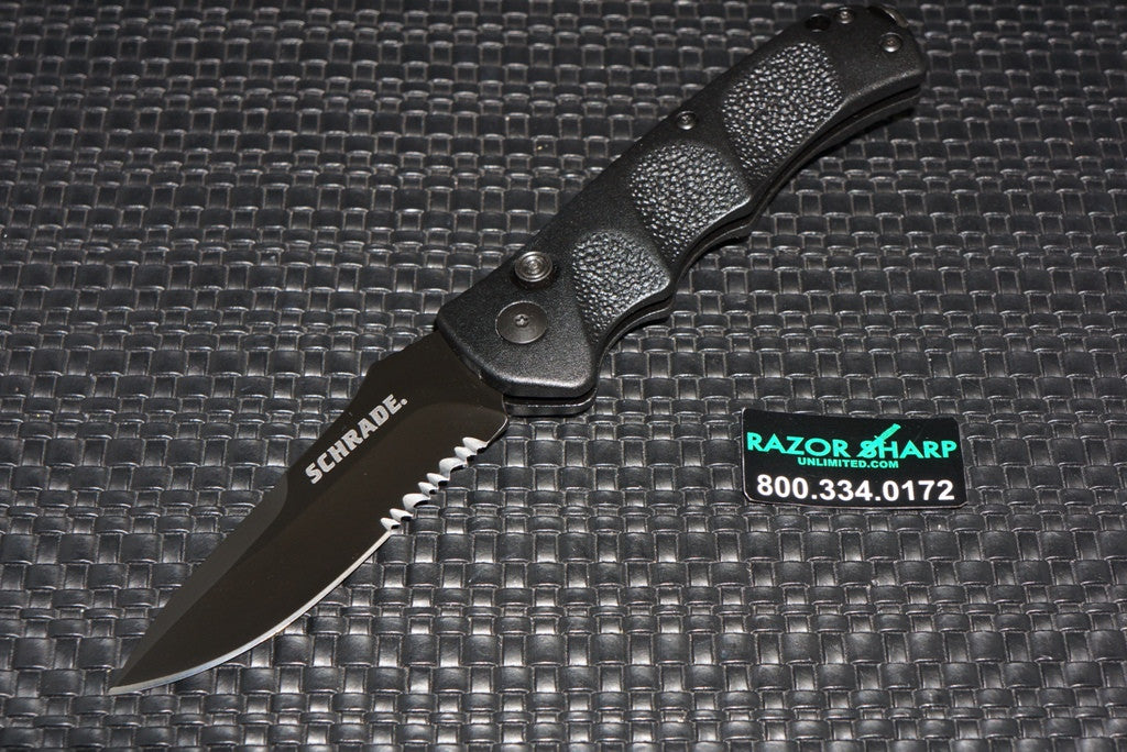 Schrade SC60BS Extreme Survival Automatic Knife Serrated SC60BS