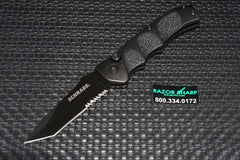Schrade SC60BTS Extreme Survival Tanto Automatic Knife Serrated Black SC60BTS