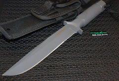 Schrade SCHF2 Extreme Survival Fixed Blade Knife Gray Serrated Edge