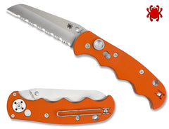 Spyderco C165GSOR Autonomy Automatic Knife Orange G-10 H-1 Salt Serrated