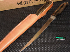 "White River Knives Fillet Knife 11"" 440C Blade Dymondwood Handle WRFI11-BRWDW"