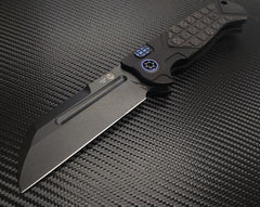 Heretic Knives ADV Butcher Automatic Knife Carbon Fiber DLC Black Plain