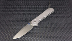 Chris Reeve Knives Large Inkosi Drop Point Plain Stonewash Plain Edge Blade