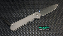 Chris Reeve Knives Left Hand Large Inkosi Drop Point Plain Stonewash Plain