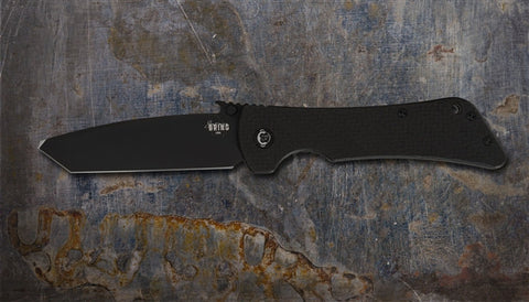 Southern Grind Bad Monkey Folding Black Tanto Blade Wave Carbon Fiber