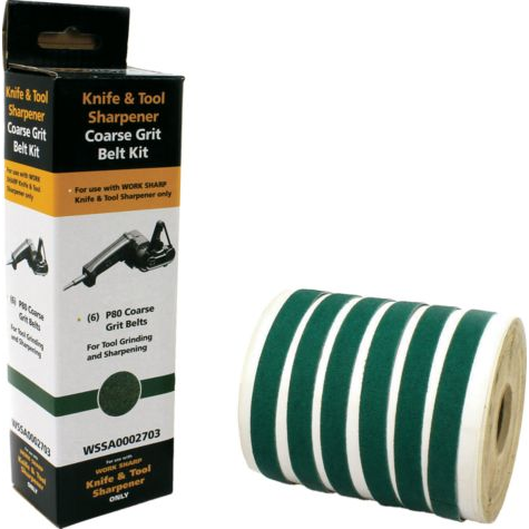 "WORK SHARP P80 GREEN EXTRA-COARSE GRIT BULK PACK - ½"" X 12"""