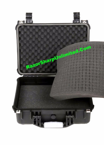 "Pelican Style 16"" Black Safety Water Protective Hard Shell Knife Carrying Case"