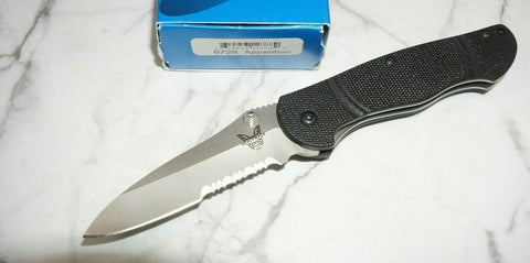 Benchmade 672S Apparition G-10 Osborne D2 Serrated Blade Assisted Opening