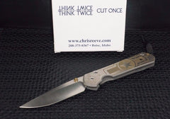 Chris Reeve Large Sebenza 21 Knife CGG Tanked Plain Stonewash Edge