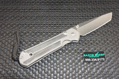 Chris Reeve Small Sebenza 21 Left Handed Tanto Black Micarta Plain Edge