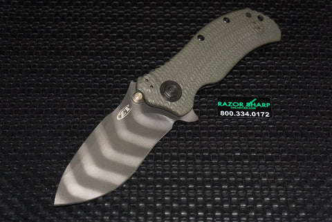 Zero Tolerance 0301 Ranger Green Tiger Stripe Assisted Opening Knife ZT