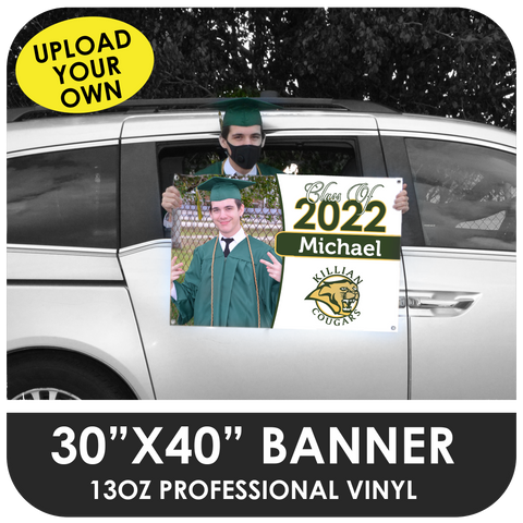 Car / Balcony Banner for Graduation Parades - Upload Your Own Image