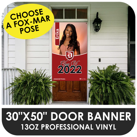 "30""x50"" Vinyl Balcony Banner / Door Sign - Use A Fox-Mar Pose"