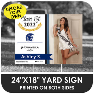 J.P. Taravella: Custom Photo & Name Yard Sign - Modern Design