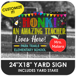 Teacher Appreciation - Yard Sign