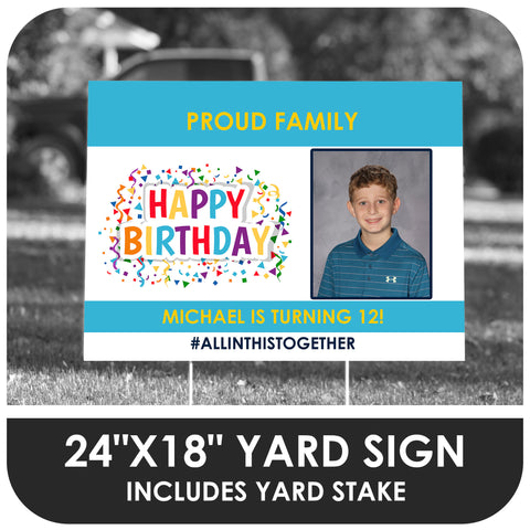 Happy Birthday Photo Yard Sign